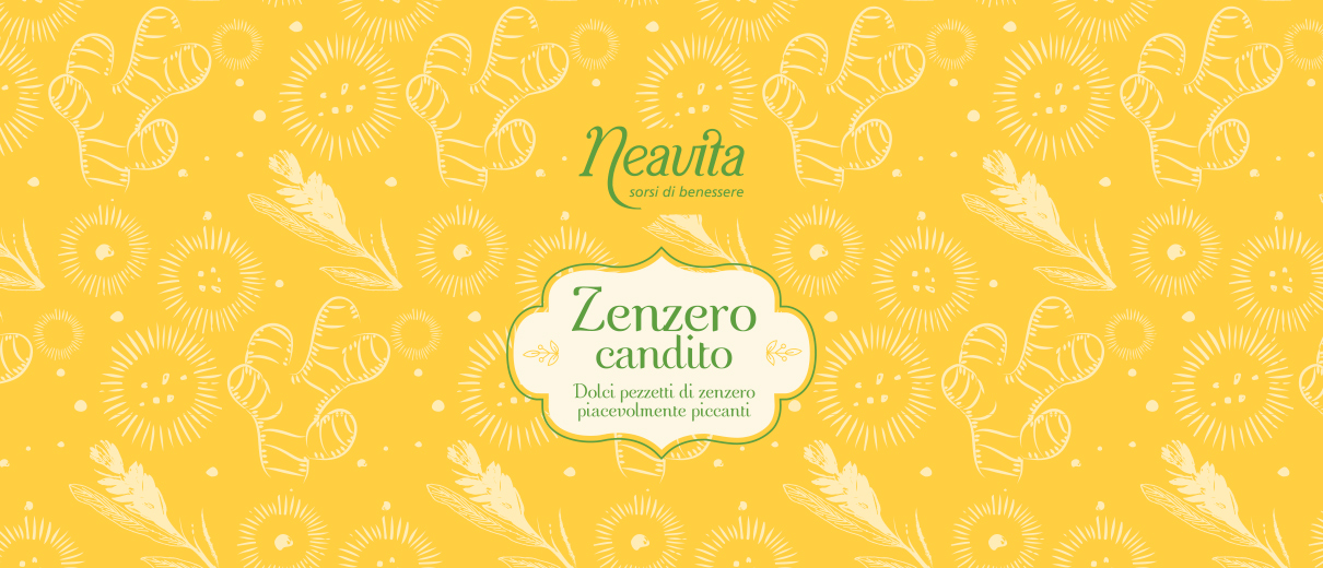 Neavita zenzero candito grafica packaging
